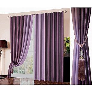 Комплект портьер №026, фиолетовый, сиреневый