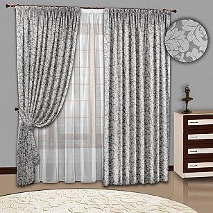 Комплект штор №108 Серебро