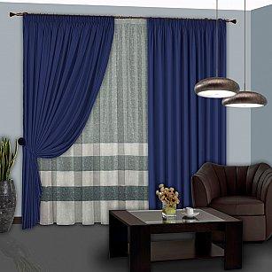 Комплект штор №119 Синий