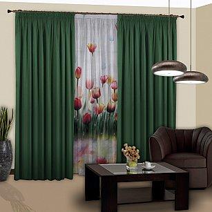 Комплект штор №122 Темно-зеленый