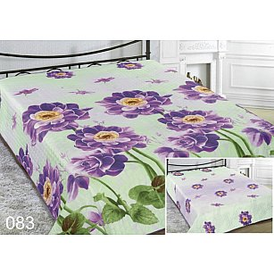 Покрывало Шарм №083, салатовый, фиолетовый