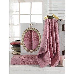 Комплект махровых полотенец TWO DOLPHINS LENNY (50*90; 70*140), брусничный