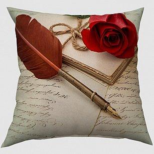 "Декоративная подушка блэкаут ""Любовное письмо"""