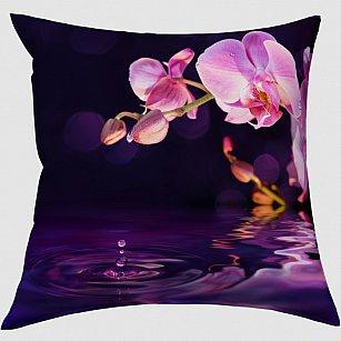 """Декоративная подушка блэкаут """"Орхидея над водой"""""""
