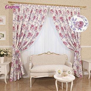 """Комплект штор """"Либрия"""", розовый, 260 см"""