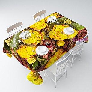 """Скатерть """"Желтые розы с личи"""""""
