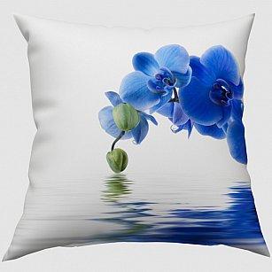 """Декоративная подушка габардин """"Синяя орхидея"""""""