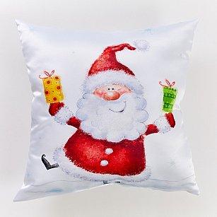 """Декоративная подушка сатен """"С подарками"""""""