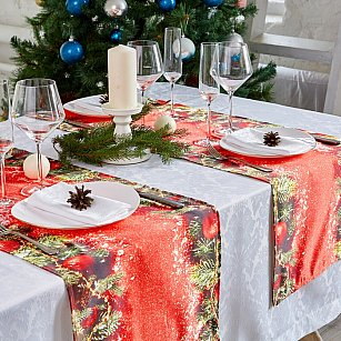 """Дорожка на стол """"Мелодия рождества"""", 40*140 см"""
