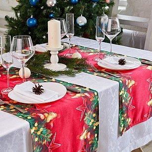 """Дорожка на стол """"Новогодние звезды"""", 40*140 см"""