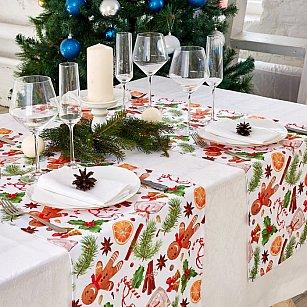 """Дорожка на стол """"Рождественский сюрприз"""", 40*140 см"""