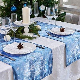 """Дорожка на стол """"Снежинки"""", 40*140 см"""