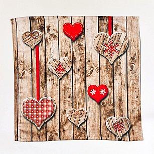 """Набор салфеток """"Красные сердца"""""""