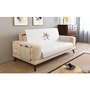 Накидка на 2-х местный диван с подлокотниками 16993, 135*195 см