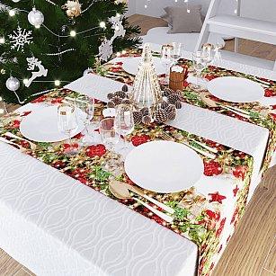 """Дорожка на стол """"Сюрпризы от Деда Мороза"""", 40*140 см"""