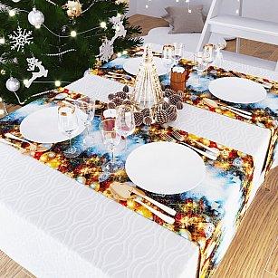 """Дорожка на стол """"Волшебство новогодней ночи"""", 40*140 см"""