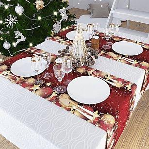 """Дорожка на стол """"Рождественские встречи"""", 40*140 см"""