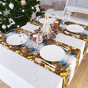 """Дорожка на стол """"Мечты в новогоднюю ночь"""", 40*140 см"""