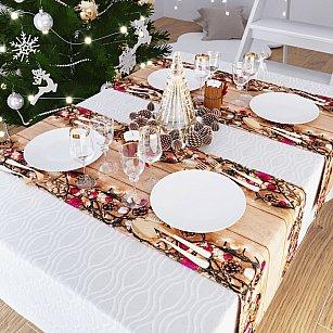 """Дорожка на стол """"Сияние Новогодней ночи"""", 40*140 см"""
