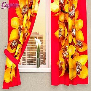 """Фотошторы для кухни """"Желтая орхидея"""""""