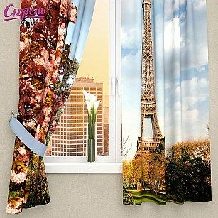 """Фотошторы для кухни """"Цветущий Париж"""""""