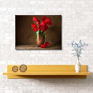"""Картина """"Яркие тюльпаны"""", 60*40 см"""