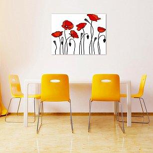 """Картина """"Красные маки"""", 60*40 см"""