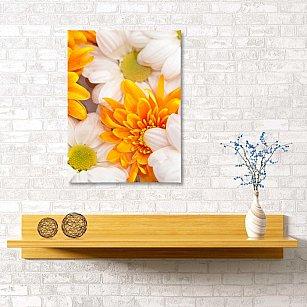 """Картина """"Хризантема и ромашка"""", 40*60 см"""