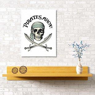 "Картина ""Пиратский флаг"", 40*60 см"