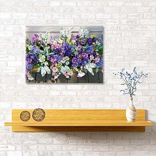 """Картина """"Цветочное кашпо"""", 60*40 см"""