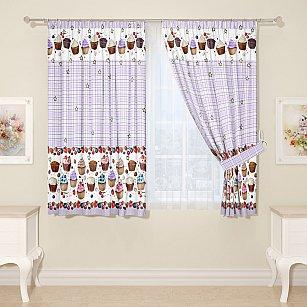 Комплект штор для кухни №11826