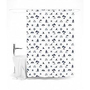 """Штора для ванной """"Ныряющие дельфины"""", 145*180 см"""