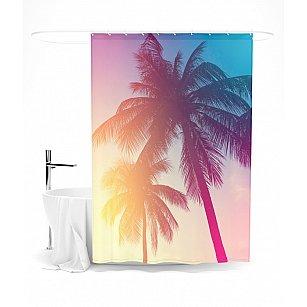 """Штора для ванной """"Волшебные пальмы"""", 145*180 см"""