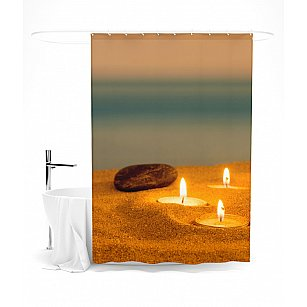 """Штора для ванной """"Романтика на берегу"""", 145*180 см"""