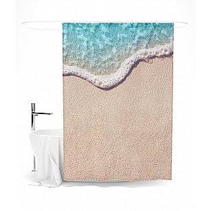 "Штора для ванной ""На берегу"", 145*180 см"