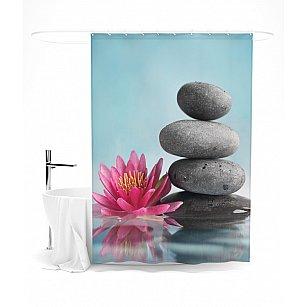 """Штора для ванной """"Лотос и дзен"""", 145*180 см"""