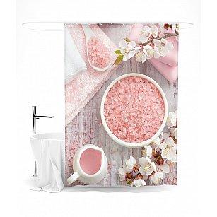 """Штора для ванной """"В персиковых тонах"""", 145*180 см"""