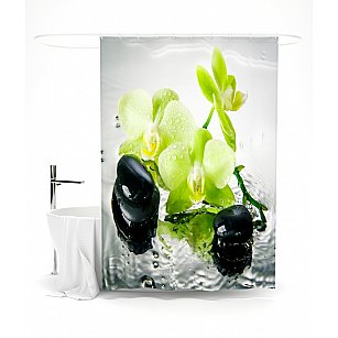 """Штора для ванной """"Сочная орхидея"""", 145*180 см"""