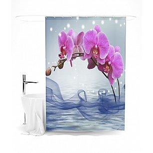 """Штора для ванной """"Ветвь орхидеи"""", 145*180 см"""