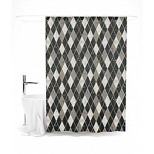 """Штора для ванной """"Благородная геометрия"""", 145*180 см"""