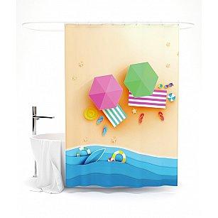 """Штора для ванной """"Яркий отдых"""", 145*180 см"""