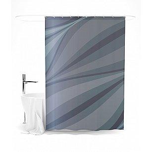 """Штора для ванной """"Абстрактный минимализм серого"""", 145*180 см"""