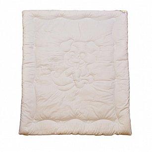 """Одеяло """"Озорной щенок"""", белый, теплое, 110*140 см"""