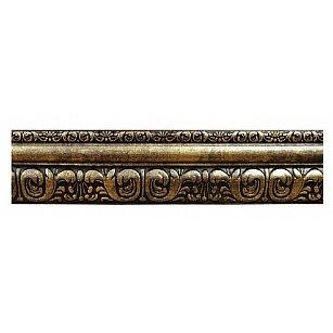 """Карниз потолочный багетный """"Сонет"""", 3 ряда, античное золото, 200 см-A"""