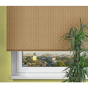 Рулонная штора ролло Люкс «Соты» коричневый