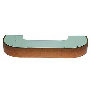 """Карниз потолочный пластиковый поворотный """"Стандарт"""", 2 ряда, бук"""