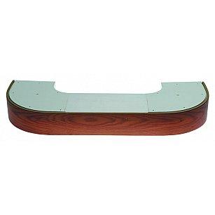 """Карниз потолочный пластиковый поворотный """"Стандарт"""", 2 ряда, дуб"""