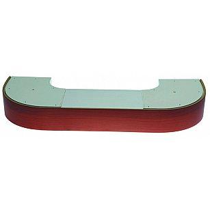 """Карниз потолочный пластиковый поворотный """"Стандарт"""", 2 ряда, вишня"""