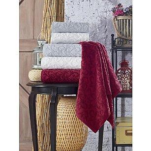 Полотенце махровое TexRepublic Cotton Piramid, кремовый, 50*90 см