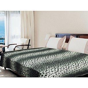 """Плед микрофайбер """"Шкура леопарда"""", серый, 180*220 см"""